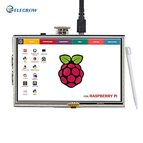 Elecrow HDMI Display Monitor 5 Inch HD 800x480 TFT LCD Display for Raspberry Pi 2B B+ Raspberry Pi 3B with Touch Screen