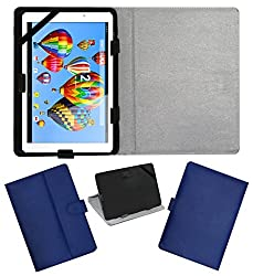 ACM LEATHER FLIP FLAP TABLET HOLDER CARRY CASE STAND COVER FOR DIGIFLIP PRO XT911 BLUE