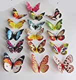 20pcs Colorful Magnet or Pin Fridge Simulation Dream Butterfly (10cm)