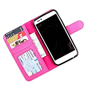 For HTC Desire 700 - PU Leather Wallet Flip Case Cover