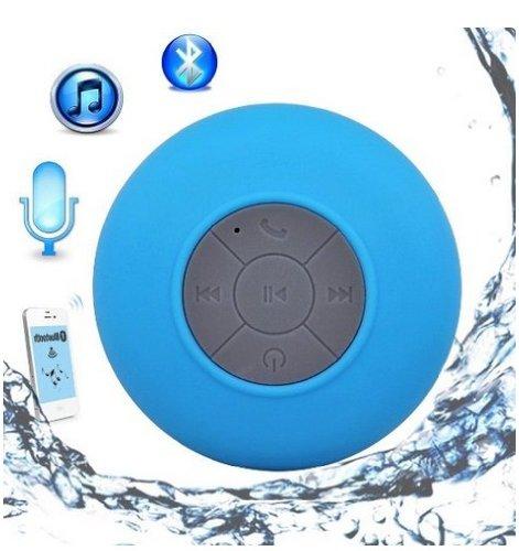 Bluetooth スピーカー 防滴 防水 お風呂 ブルートゥース ポータブル ワイヤレス ハンズフリー 通話 iphone/ipadなど対応 最新人気スピーカー (ブルー)