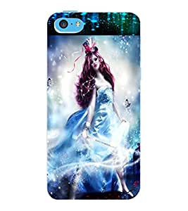ColourCraft Fantasy Girl Design Back Case Cover for APPLE IPHONE 5C