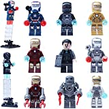 FG 0160-0168 Iron Man 9pcs/set of small particles new Bricks Blocks Sets Figures Minifigures Learning Toys Compatible With Lego
