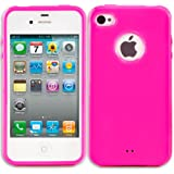 "PrimaCase - Coque en TPU Silicone Opaque pour Apple iPhone 4 / 4S - Collection ""Logo"" - Rose (Pink)"