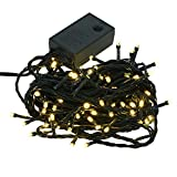 【シャンパンゴールド】イルミネーション LED ライト クリスマスライト 100球 点灯パターン記憶メモリー付 連結可