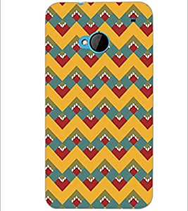 PrintDhaba Pattern D-5116 Back Case Cover for HTC ONE M7 (Multi-Coloured)