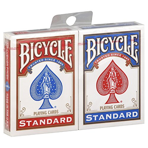 zwei neue und versiegelt Decks Fahrrad Spielkarten - eine rote und eine blaue - 2 New & Sealed Decks of Bicycle Playing Cards - 1 Red & 1 Blue