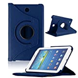 Bocideal New Case For Samsung Galaxy Tab4 7Inch Tablet, T230 Rotating 360 Case Cover (ï¼Dark Blueï¼)