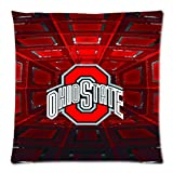 Soft Cotton Pillowcase Personalized Pillow Case 1 Side-NCAA Ohio State Team Logo Pictures-18x18-02 at Amazon.com