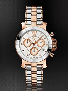 GUESS GC Femme Silver and Rose Gold-Tone with Diamonds Timepiece