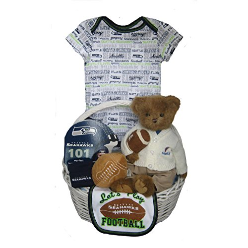 factory price 01aad d07d1 Seattle Seahawks Baby Gift Basket ***TOUCHDOWN*** Review ...