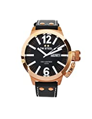 TW Steel Men's CE1022 CEO Canteen Black Leather Dial Watch