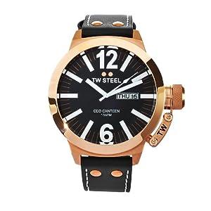 TW Steel CEO TWCE1022 - Reloj unisex de cuarzo, correa de piel color negro