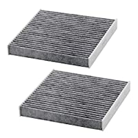 Kootek 2 Pack Car Cabin Air Filter with Active Carbon for Toyota / Lexus / Scion / Subaru, against Bacteria Dust Viruses Pollen Gases Odors, Replacement for CF10285 by Kootek
