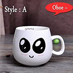 New 320ml Creative Cute Expression Ceramic Mugs Water Container Cups And Mugs Porcelain Tea Cup Coffee Mug Wholesale Style A