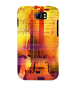 Music Strings 3D Hard Polycarbonate Designer Back Case Cover for Micromax Canvas 2 A110 :: Micromax Canvas 2 Plus A110Q