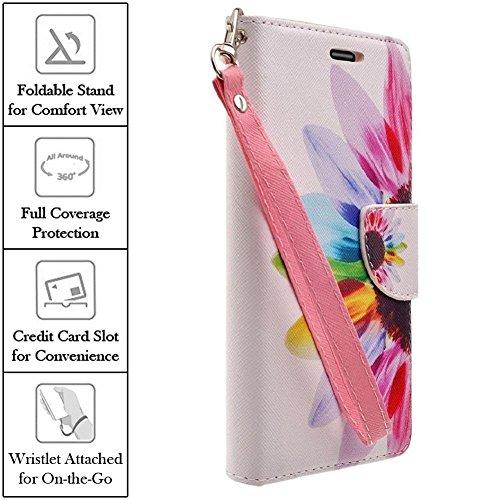 XYZ® ZTE ZMAX Phone Case Wallet Z970 (T-Mobile) Slim Leather Flip Pouch Design Case (COLORFUL SUNFLOWER) (Zte Zmax Phone Case T Mobile compare prices)