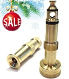 Hose Nozzle High Pressure for Car or Garden - Solid Brass Fittings - Made in USA - Set of 2 Nozzles - Lifetime Guarantee - Adjustable Water Sprayer From Spray to Jet - Heavy Duty - Fits Standard Hoses - Includes Free Gardening Secret How-to E-book
