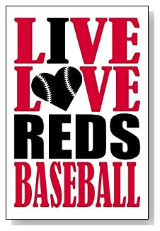 Live Love I Heart Reds Baseball lined journal - any occasion gift idea for Cincinnati Reds fans from WriteDrawDesign.com