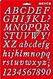 Schablone 20x31cm - Buchstaben A-Z und Zahlen Kursivschrift