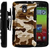 MINITURTLE, High Impact Rugged Hybrid Dual Layer Protective Phone Armor Case Cover with Built in Kickstand, Swivelling...