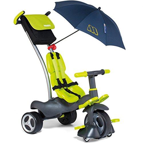 5in1 leicht lenkbares Dreirad mit 360° Räder, Schiebestange, Radfreilauf - Baby Kinder Wagen Schubstange Kinderfahrzeug Trike
