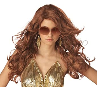 California Costumes Sexy Super model Red Wig Auburn, One size