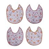 Kim's Baby Bibs Cotton Bibs Combo (pack Of 4) - B01BFCJ2KA