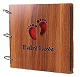Amazon.co.jpLife connection 木製 スクラップ ブッキング 用 フォト アルバム 26×26センチ 写真 記念 思い出 ステッカー (Baby Love)