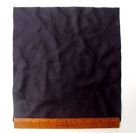 "Upholstery Leather Piece Black Cowhide Light Weight 12"" x 12"" 1 SF"