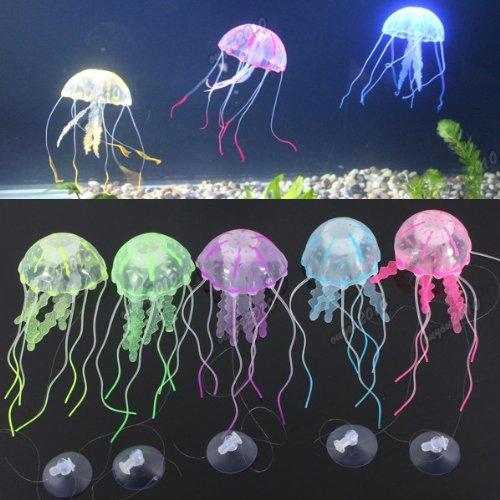 Kuenstlich quallen jellyfish aquarium dekoration deko for Dekoration quallen