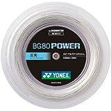 ヨネックス(YONEX) バドミントン ストリング BG80 POWER ロール 200m ホワイト BG80P2