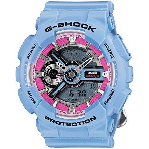Casio - G-Shock - S Series Floral Patterns - Light Blue / Pink watch - GMAS110F-2A