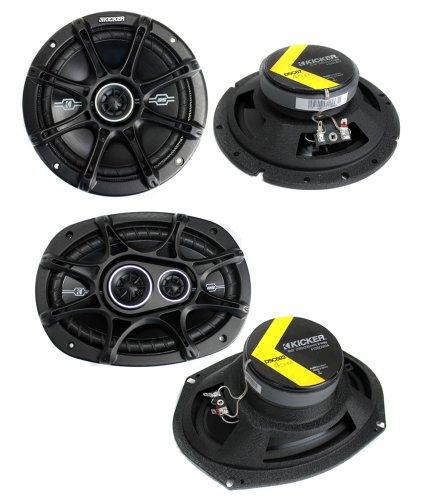 "2) Kicker 41Dsc684 6X8"" 200W 2-Way + 2) 41Dsc6934 6X9"" 360W 3-Way Car Speakers"