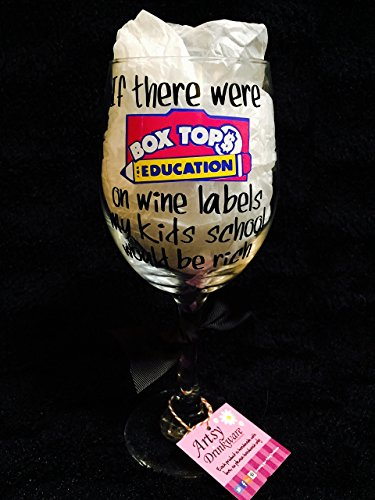 Box Tops for Education Wine Glass (Box Tops For School compare prices)
