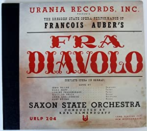 Urania Records, Inc. Presents The Dresden State Opera's Performance of Francois Auber's Fra Diavolo (Complete Opera (In German))