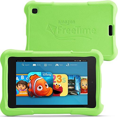 "Fire Hd 6 Kids Edition, 6"" Hd Display, Wi-Fi, 8 Gb, Green Kid-Proof Case front-714700"
