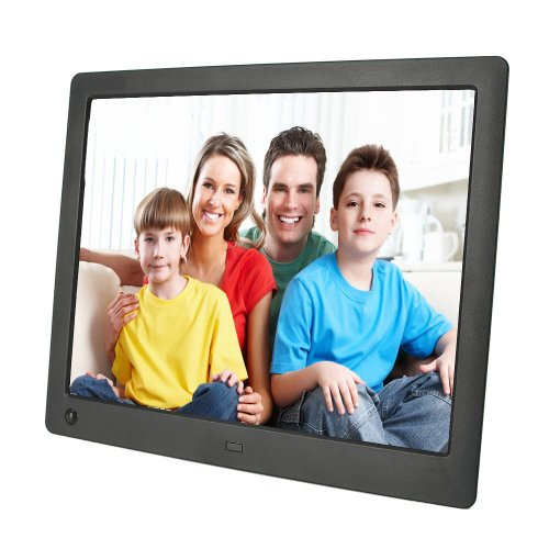 Magicdots Portable Ultra-Thin 10.1 Inch Hd 4:3 Widescreen Led Backlight Digital Photo Album Picture Frame 1024*768 Motion Sensor Sd/Mmc/Ms Usb Slot With Remote Control Speaker Electronic Calendar Clock Alarm Video