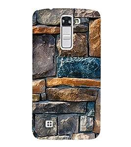 Stone Wall 3D Hard Polycarbonate Designer Back Case Cover for LG K10 :: LG K10 Dual SIM :: LG K10 K420N K430DS K430DSF K430DSY