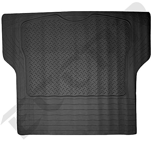 ECCPP Trunk Cargo Floor Mats for SUV Van Truck All Weather Rubber Black Auto Liners (2007 Toyota Yaris Trunk Liner compare prices)