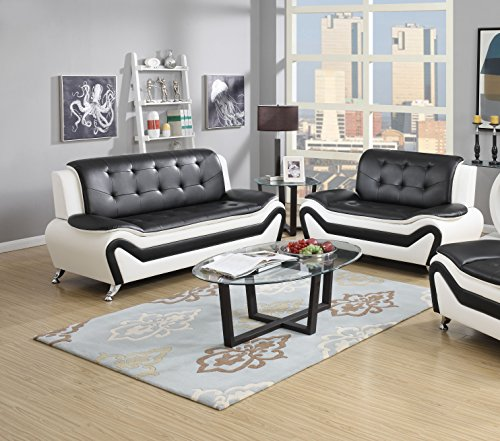 US Pride Furniture S5067 2PC 2 Piece Modern Bonded Leather