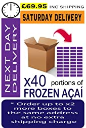AÇAÍ Frozen - Especial Grade x 40 Portions (Next Day - Saturday Delivery)