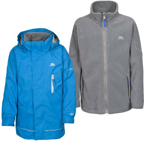 Trespass Little Boys' Prime 3-In-1 Jacket Age 3-4 Royal Blue