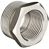 Stainless Steel 316 Pipe Fitting, Hex Head Bushing, Class 1000, NPT Male X NPT Female