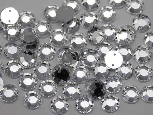 10mm Sew On Rhinestones Crystal Clear H102 - 70 Pieces (Sew On Clear Rhinestones compare prices)
