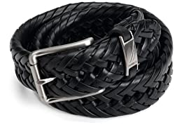 Nautica Mens Braided Belt,Black,38