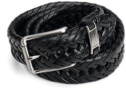 Nautica Men's Braided Belt,Black,36