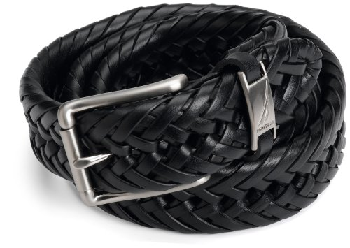 Nautica Men's Braided Belt,Black,36