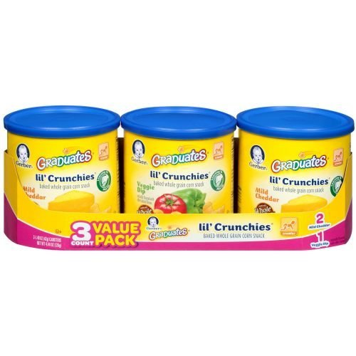 Graduates Lil Crunchies Cheddar and Veggie Dip, 4.44 Ounce -- 4 per case. (Lil Crunchies Veggie Dip compare prices)