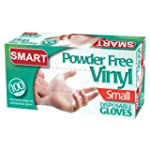 DISPOSABLE VINYL GLOVES. POWDER FREE....
